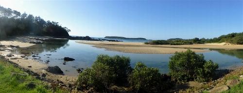 Broulee Island from Candlagan Creek