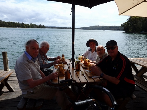 Mens Shed social outing to Tuross
