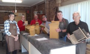 Banksia's Men's Shed group - marsupial breeding boxes for Mogo Zoo