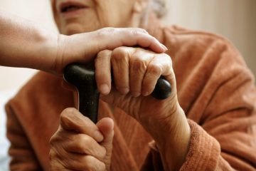 Older person receiving care
