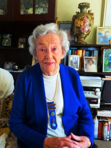 Doris with her CWA 20 years