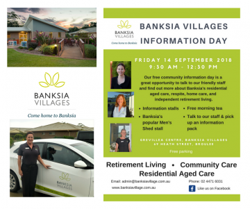 Free information day at Banksia Village