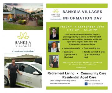 Free information day at Banksia Village