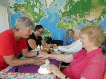 Nail Care Volunteers pamper Banksia Lodge residents with a manicure