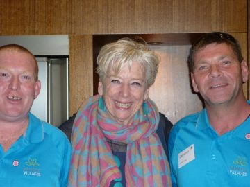 Jeremy and Cameron with Maggie Beer red eye removed